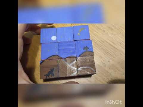 יצירת שישה פאזלים מ-9 קוביות בלבד!